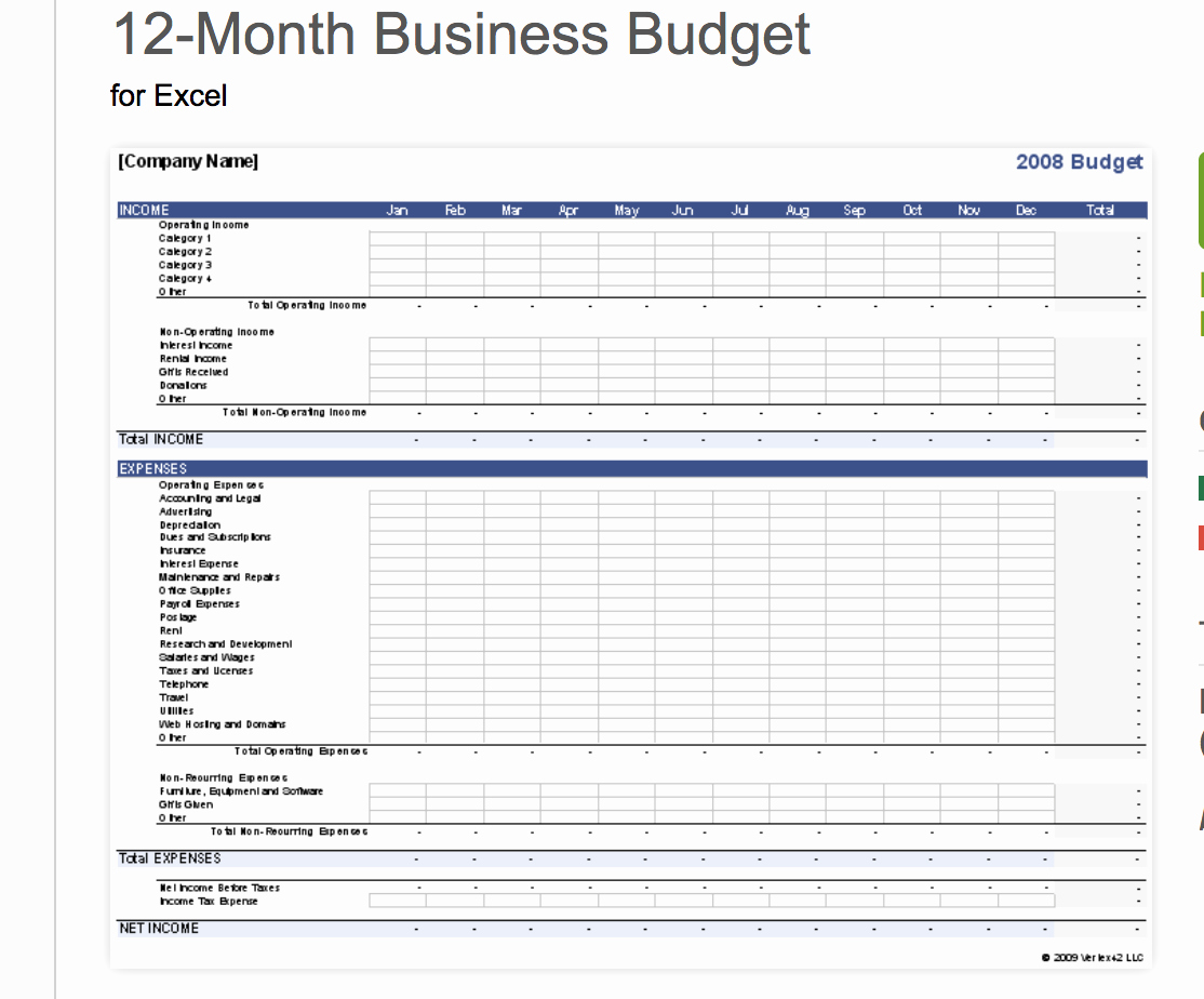 Annual Business Budget Template Excel New 7 Free Small Business Bud Templates