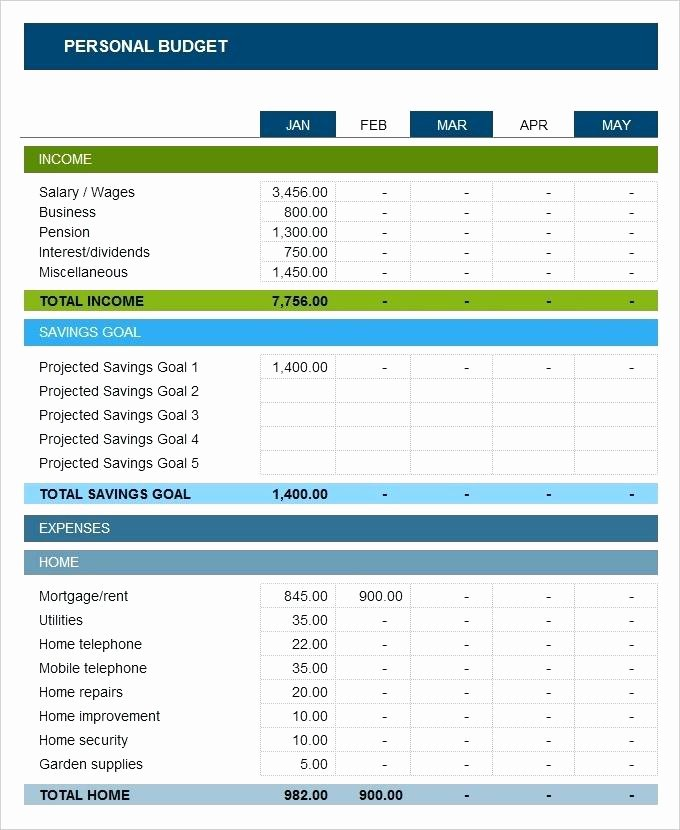 Annual Business Budget Template Excel New Excel Yearly Bud Template Excel Personal Bud