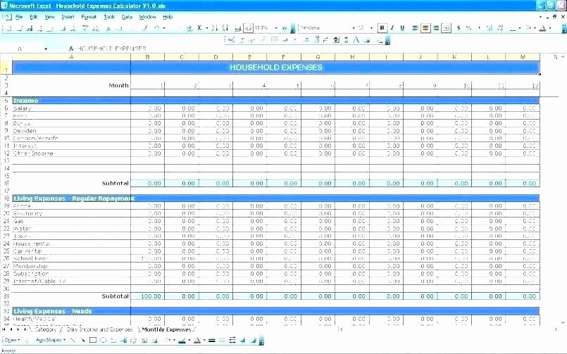 Annual Business Budget Template Excel Unique Sample Excel Expense Spreadsheet Annual Business Bud
