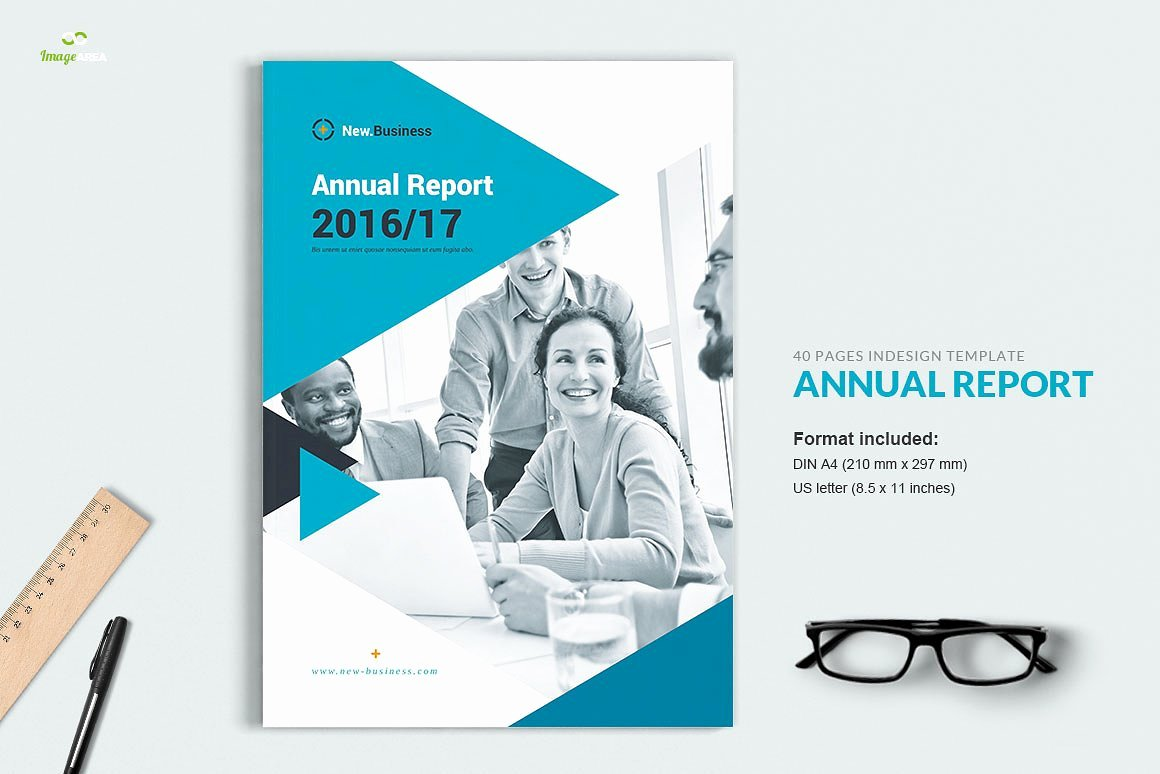 Annual Financial Report Template Awesome Annual Report 40 Pages Brochure Templates Creative