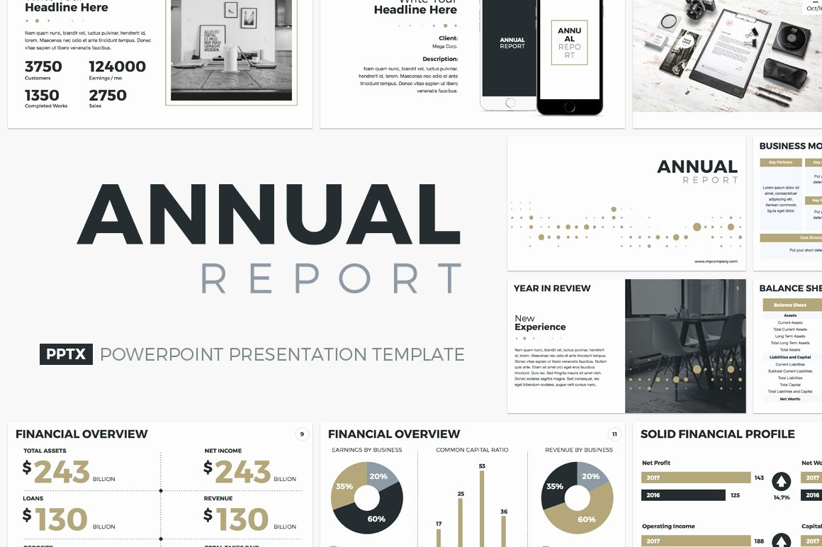 Annual Financial Report Template Beautiful Annual Report Powerpoint Template Powerpoint Templates