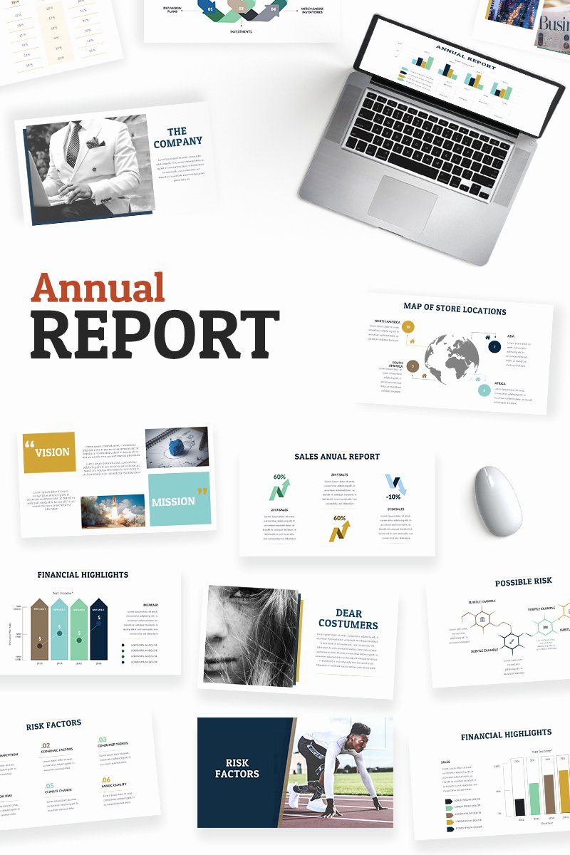 Annual Financial Report Template Inspirational Annual Report Powerpoint Template