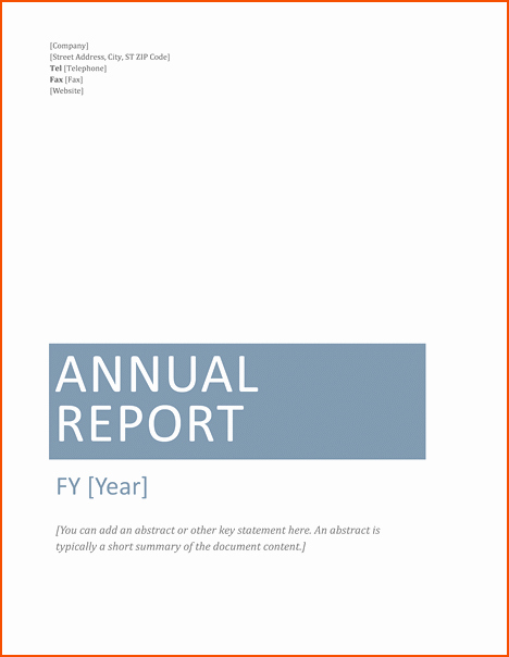 Annual Financial Report Template New 7 Microsoft Word Report Templates Bookletemplate