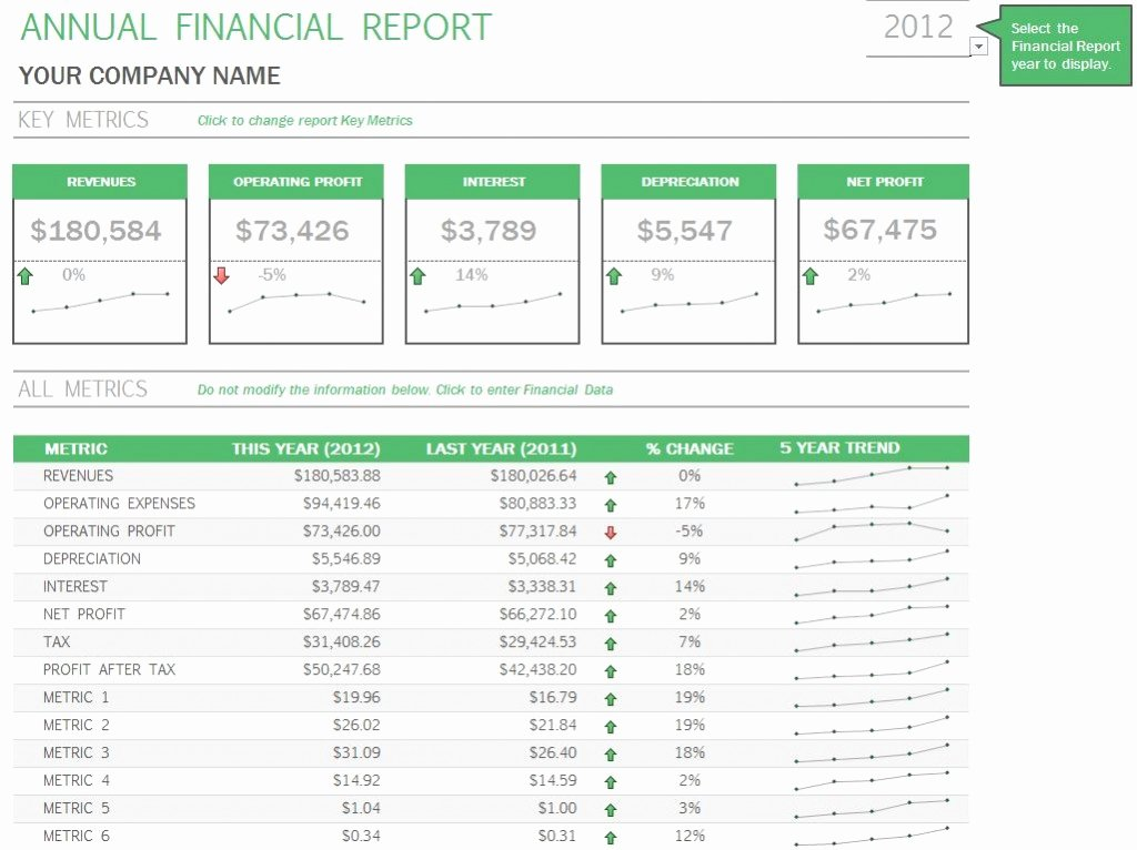 Annual Financial Report Template New Annual Financial Report