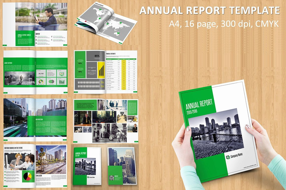 Annual Financial Report Template Unique Annual Report Template V115 Brochure Templates