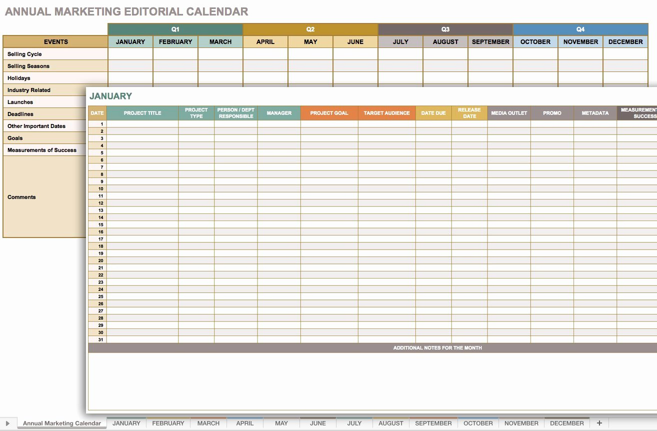 Annual Marketing Calendar Template Awesome Free Marketing Timeline Tips and Templates Smartsheet