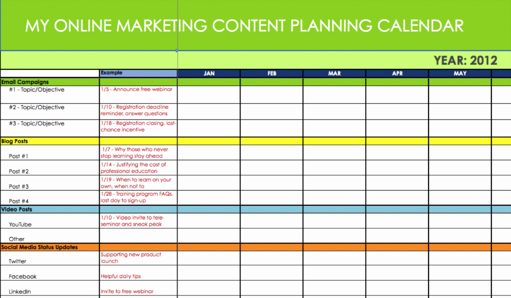 Annual Marketing Calendar Template Best Of Marketing Calendar Template