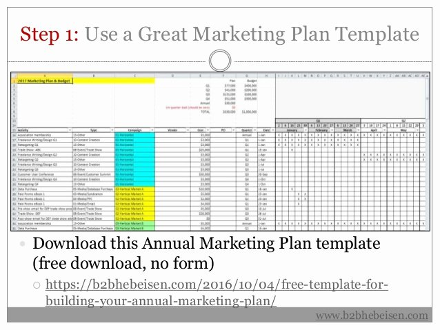 Annual Marketing Calendar Template Inspirational 7 Steps to Building Your Annual Marketing Plan