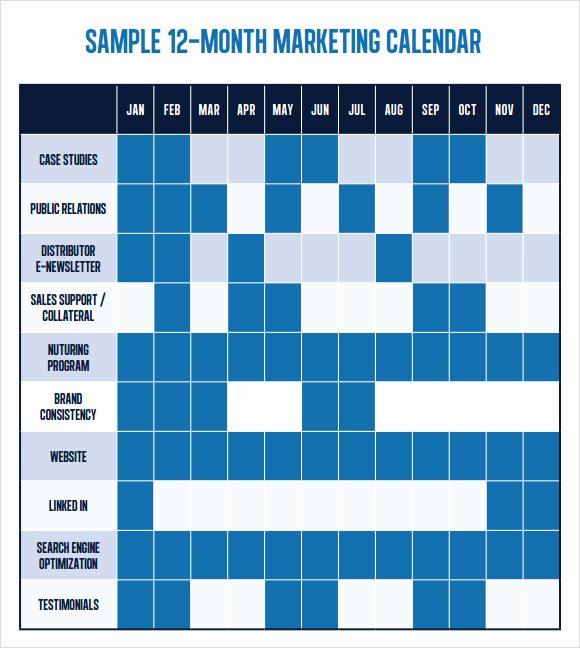 Annual Marketing Calendar Template Luxury 6 Marketing Schedule Templates