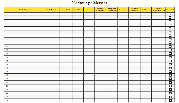 Annual Marketing Calendar Template New [update] Marketing Calendar Template