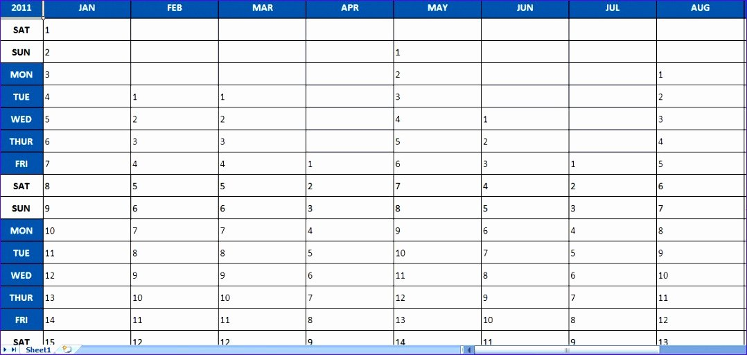 Annual Marketing Calendar Template Unique 12 Year Schedule Template Excel Exceltemplates