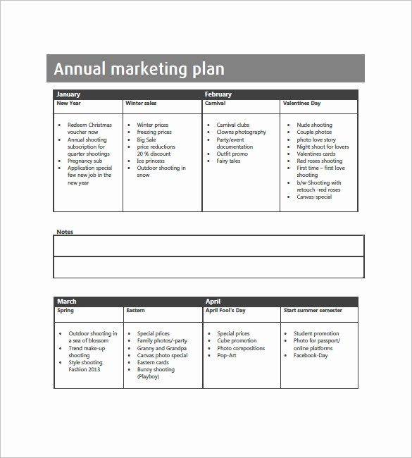 Annual Marketing Plan Template Awesome Annual Marketing Plan Template – 10 Free Word Excel Pdf