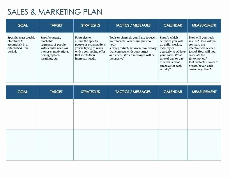 Annual Marketing Plan Template Awesome Sales and Marketing Plan Template