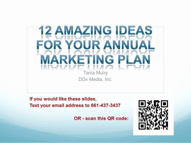 12 amazing ideas for your annual marketing plan