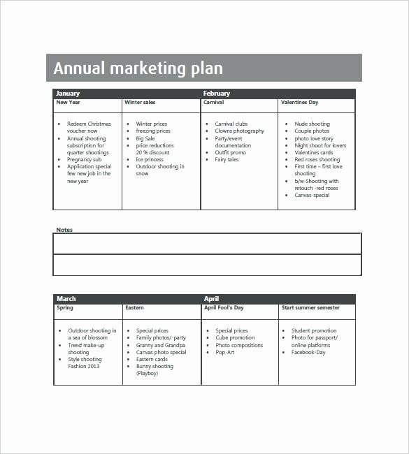 Annual Marketing Plan Template Fresh Annual Planning Template Operational Plan Calendar Leave
