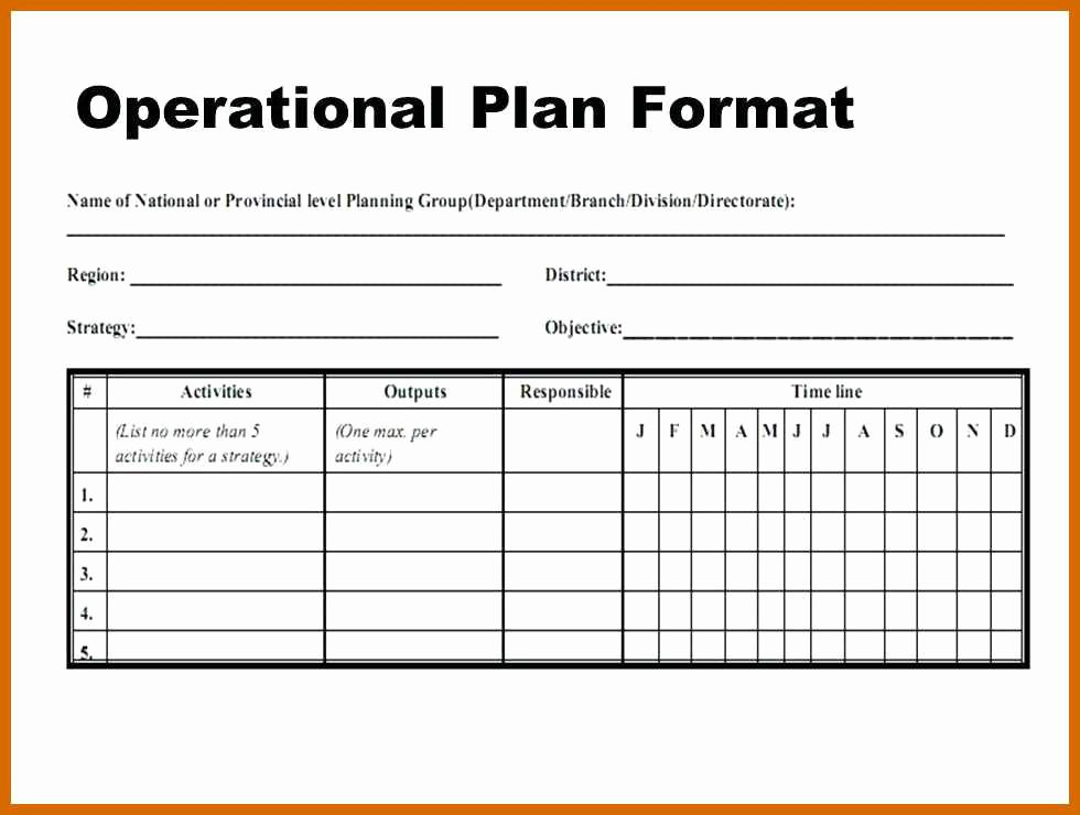Annual Operating Plan Template Elegant 3 4 Operational Plans Examples