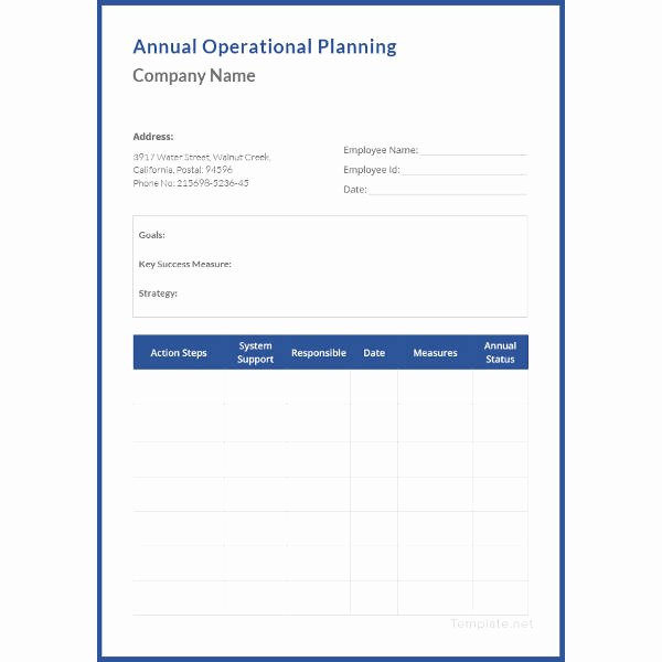 Annual Operating Plan Template Inspirational 20 Operational Plan Templates Doc Pdf