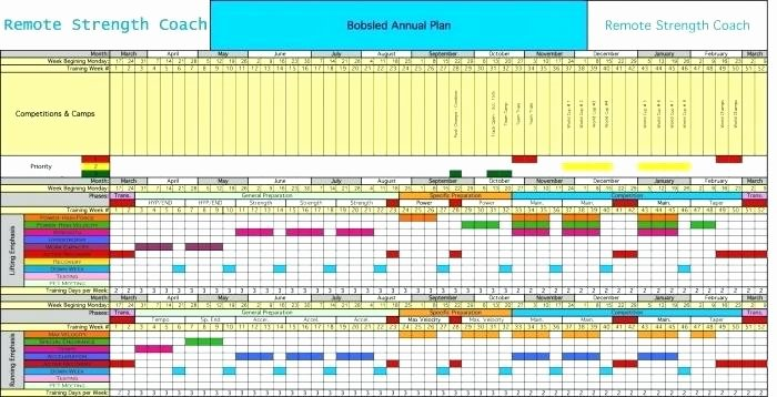 Annual Training Plan Template Awesome Annual Training Plan Template Excel Calendar 2017
