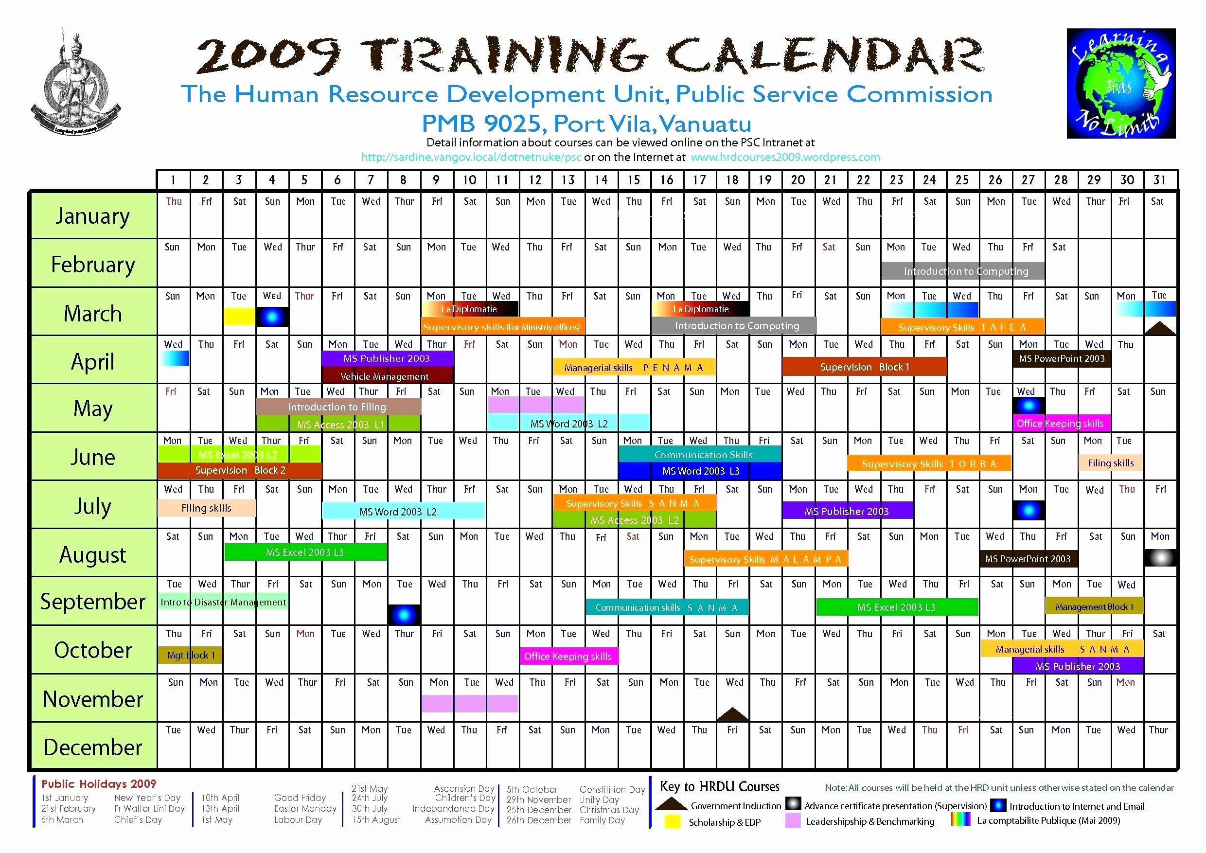 Annual Training Plan Template Luxury Staff Annual Leave Calendar Template