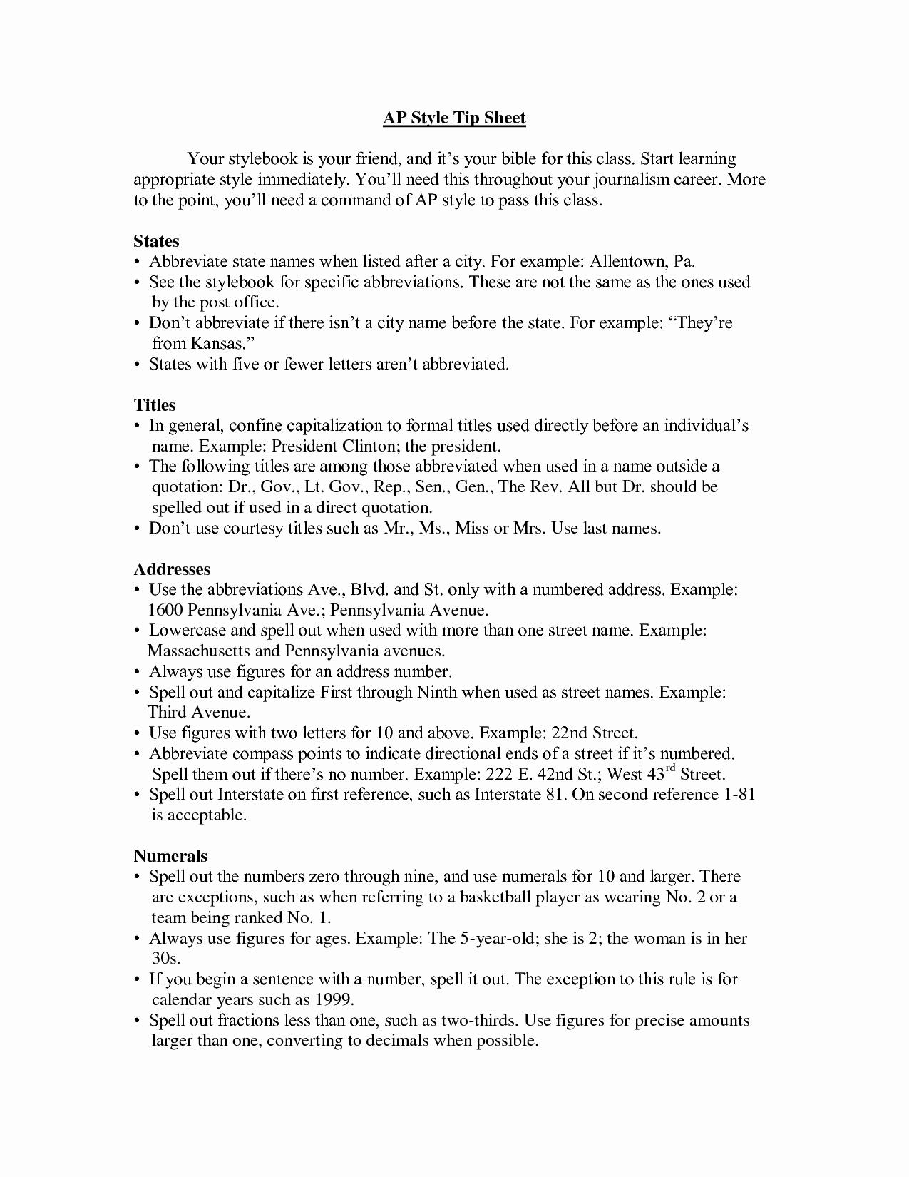 Ap Style Press Release Template Elegant 10 Best Of Ap Press Release format Ap Style Press