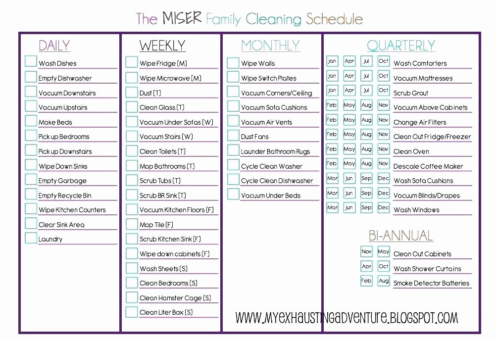 Apartment Cleaning Schedule Template Beautiful Clean House Checklist – Triangulumfo