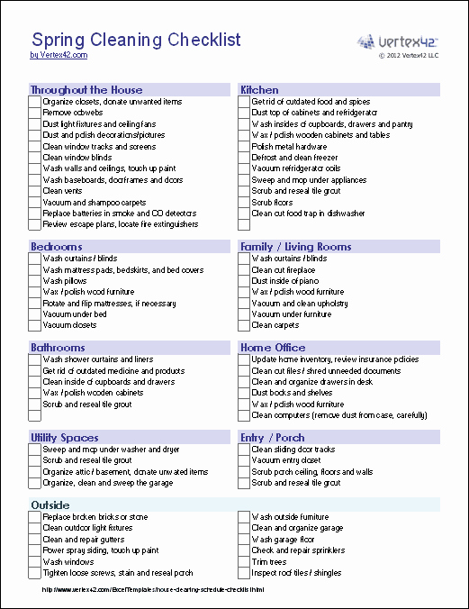 Apartment Cleaning Schedule Template Unique 9 Best Of Fice Cleaning Checklist Free Printable