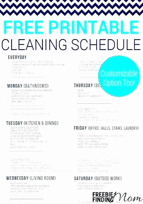 Apartment Cleaning Schedule Template Unique House Cleaning Checklist Pdf – Hidemyassguide