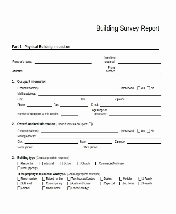 Apartment Market Survey Template Unique 32 Survey Template Free Sample Example format