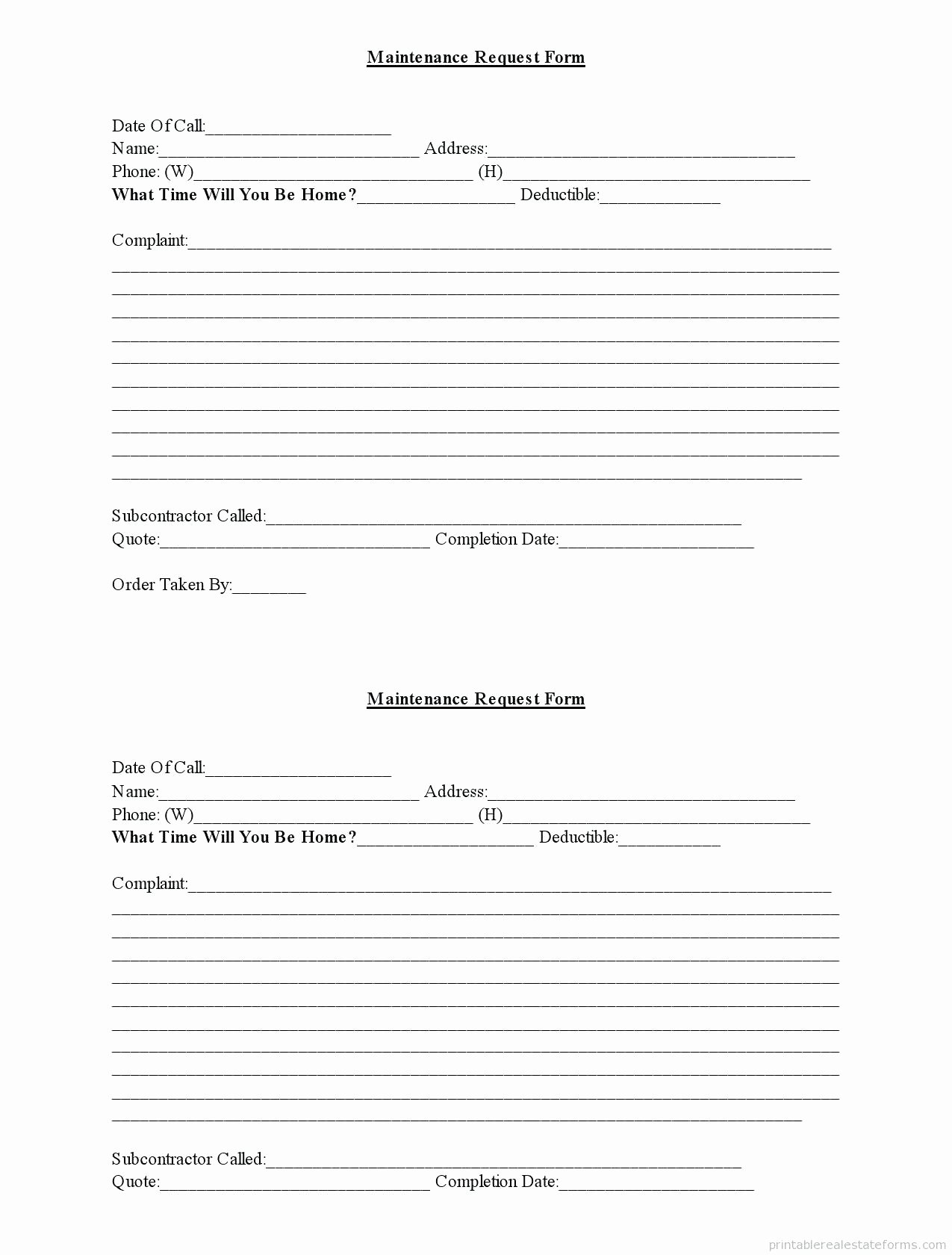 Apartment Work order Template Best Of Apartment Maintenance Work order Template – Cool Green Jobs