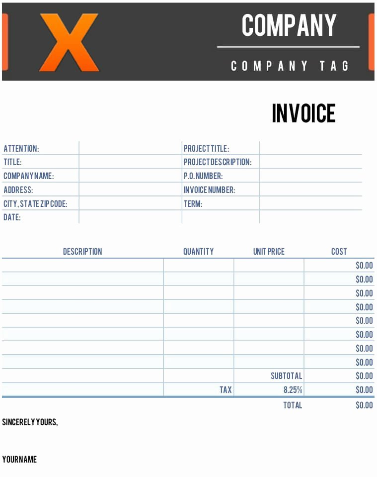 Apple Pages Invoice Template Fresh Free Mac Pages Invoice Template X Invoice Template for