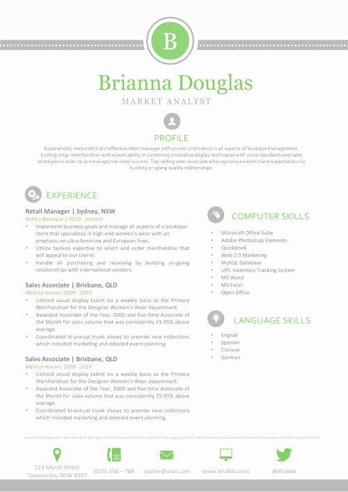 Apple Pages Resume Template Elegant Resume Templates for Mac Word & Apple Pages Instant