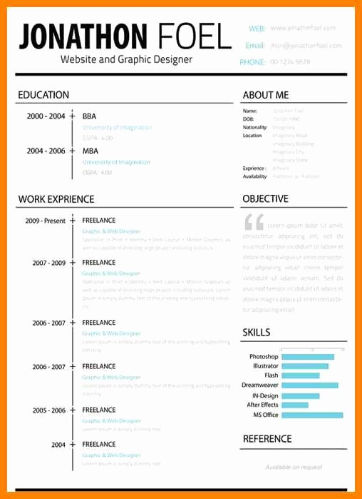 Apple Pages Resume Template Lovely 18 Pages Cv Template Mac