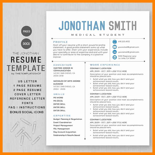 Apple Pages Resume Template New Apple Pages Resume Templates Resume Example