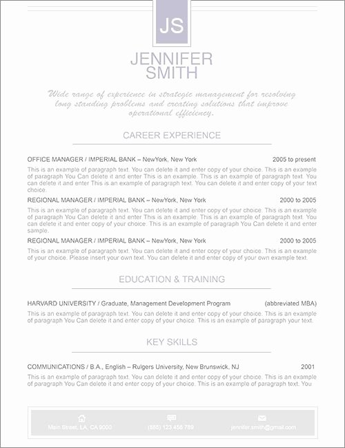 Apple Pages Resume Template New Elegant Resume Template Premium Line Of Resume & Cover
