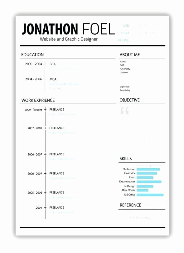 Apple Pages Resume Template Unique Resume Template for Mac Pages
