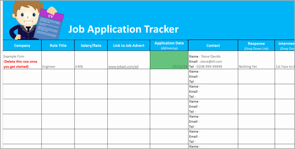 Applicant Tracking Spreadsheet Template Beautiful Job Application Tracker Spreadsheet