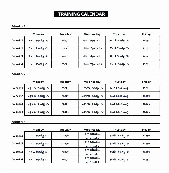 Army Training Calendar Template Awesome Army Training Schedule Template – asctech