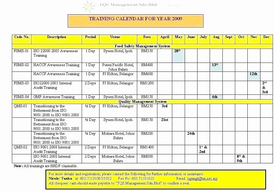 Army Training Calendar Template Fresh Training Calendar Template Excel 2016 Spreadsheet