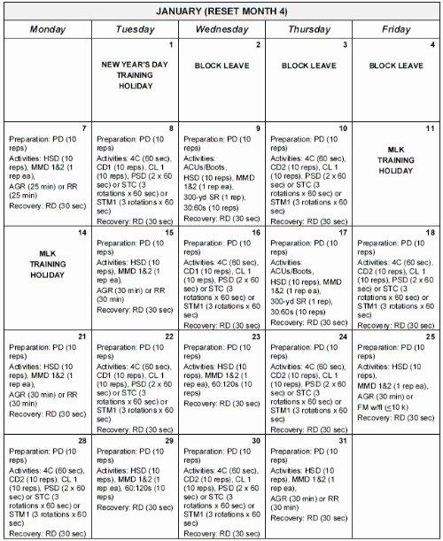 Army Training Calendar Template Luxury Army Training Schedule Template Excel Free Training Plan