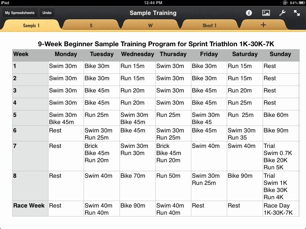 Army Training Plan Template Lovely Triathlon Training Calendar Template
