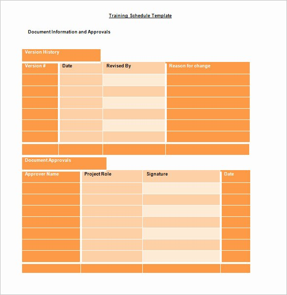 Army Training Plan Template Unique Training Schedule Template 7 Free Sample Example
