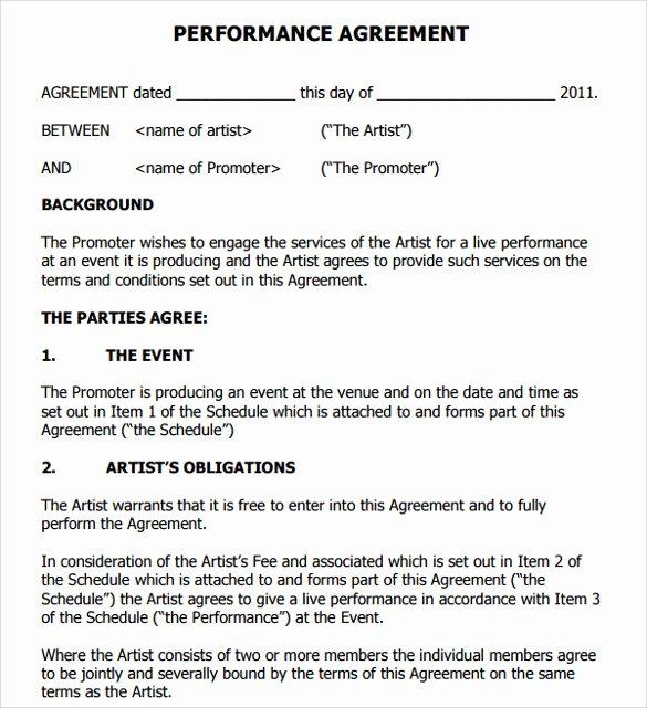 Artist Management Contract Template Inspirational 9 Artist Contract Templates Download for Free