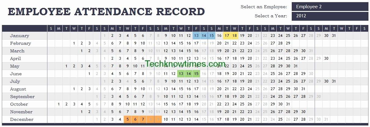 Attendance Sheet Template Excel Beautiful attendance Tracker Excel Template