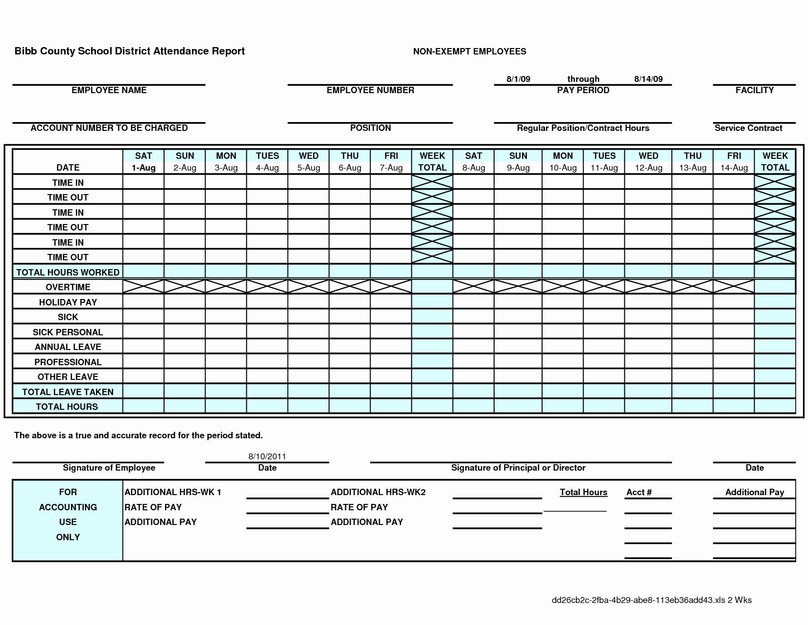 Attendance Sheet Template Excel Fresh attendance Record Template Example Mughals