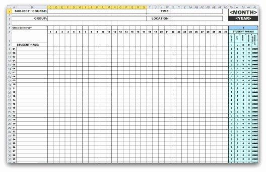 Attendance Sheet Template Excel Unique 46 Best attendance Sheet Template Examples for Classroom