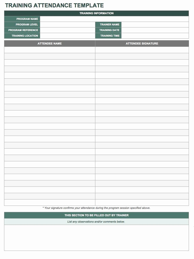 Attendance Sheet Template Excel Unique Free attendance Spreadsheets and Templates