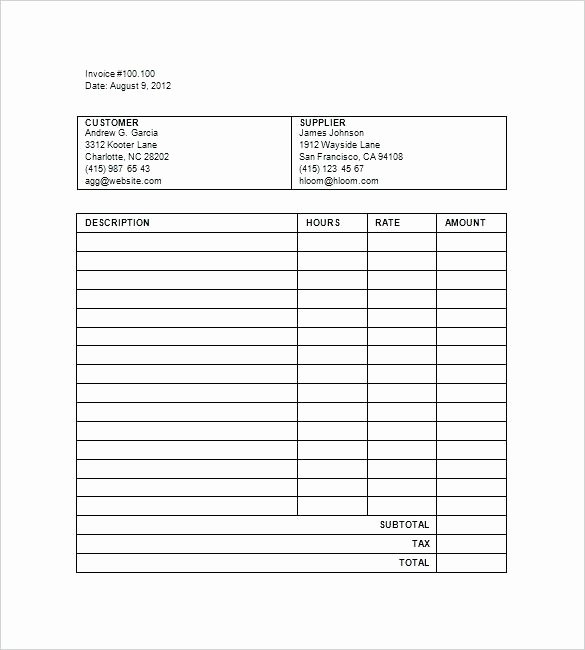 Attorney Billable Hours Template Unique Billable Hours Invoice Download Billable Hours Invoice