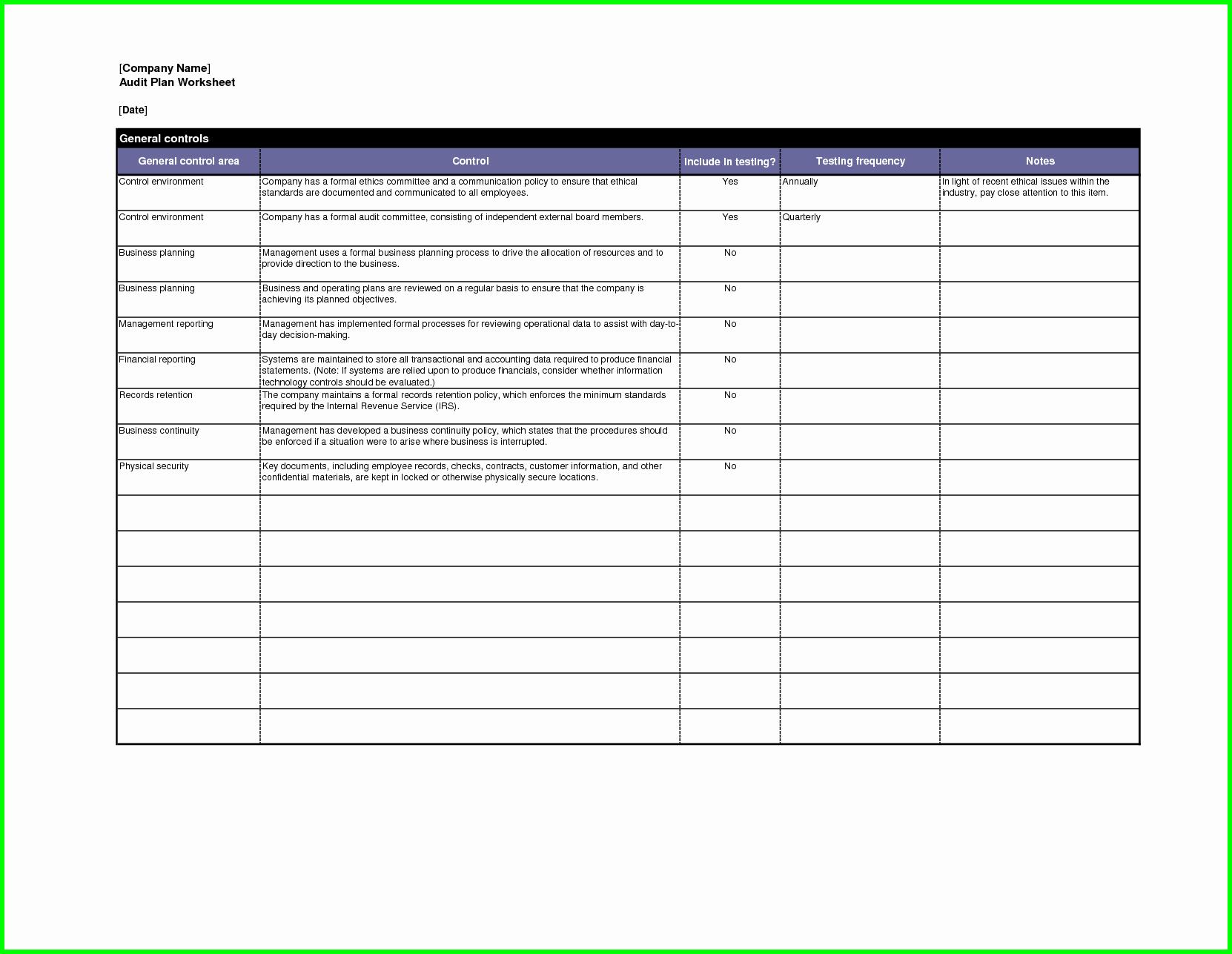 Audit Report Template Excel Beautiful Website Audit Report Template and Audit Plan Template