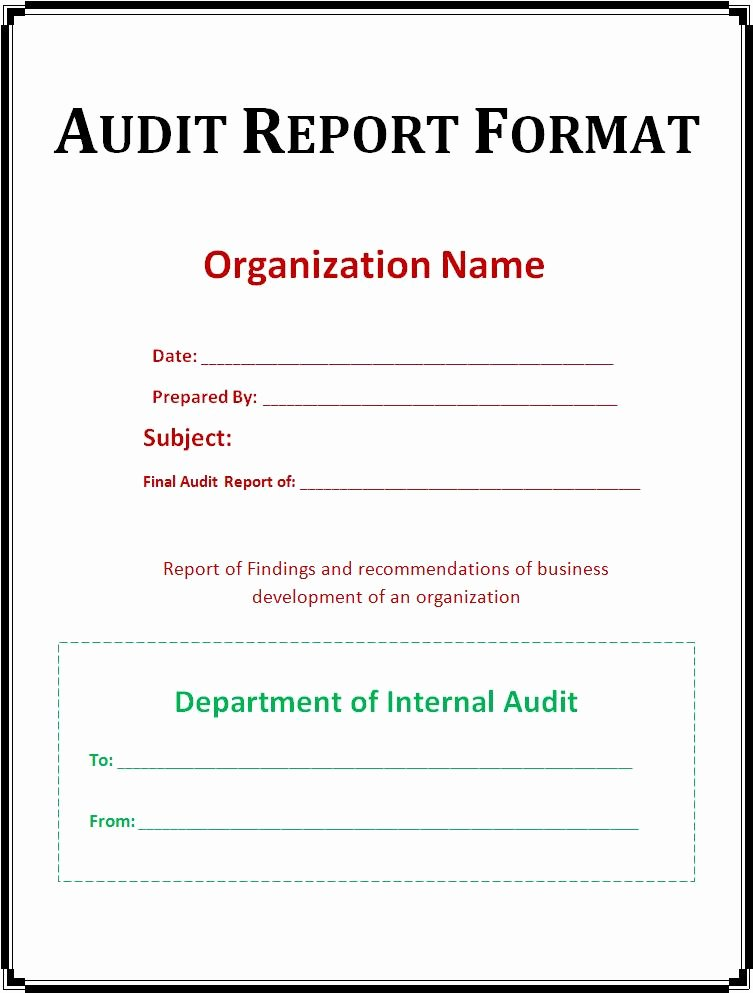 Audit Report Template Excel Luxury 10 Best Of Report Design Annual Report Page