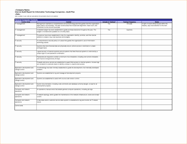 Audit Report Template Excel New Excellent Internal Audit Report format Template for